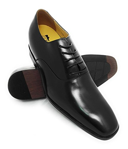 Pelle Nero Nero Scarpe Interno Pelle di in di Elegante Alta con Qualità 100 Realizzata Zerimar cmStile Aumentato 7 Colore TqZBwBC