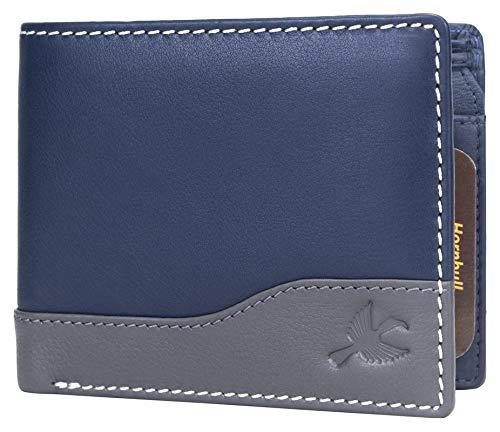 Hornbull Buttler Men's Navy Genuine Leather RFID Blocking Wallet product image