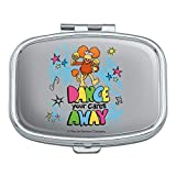 Cartoon Dance Your Cares Aware Fraggle Rock Red Rectangle Pill Case Trinket Gift Box