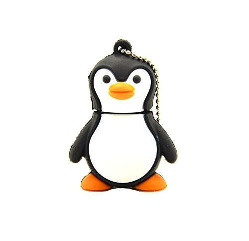 FEBNISCTE Cartoon Penguin 32GB USB2.0 Flash Drive Birthday Gift Pendrive
