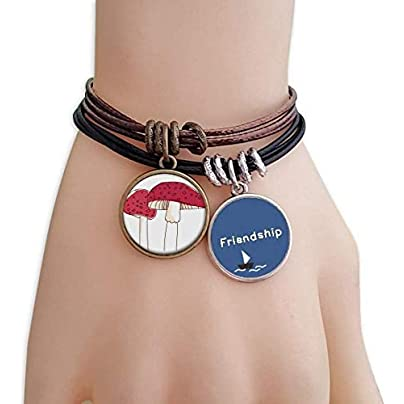 YMNW Realistic Swamm Line Poisonous Pattern Friendship Bracelet Leather Rope Wristband Couple Set Estimated Price -