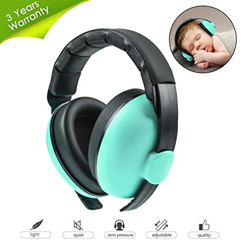 Beautyu Baby Ear Protection Noise Cancelling Headphones for Babies,Baby Headphones Baby Earmuffs,Hearing Protection Headphones-Ages 0-2 Years (Mint Green)