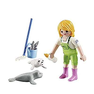 PLAYMOBIL 9418 Zookeeper with Seal Pups Gift Egg: Toys & Games