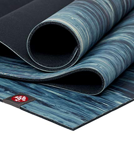 "Manduka eKOlite Yoga Mat - Mint Marbled 4mm Thick Mat, 71"" Long, Eco Friendly, Non-Slip and Made from Natural Tree Rubber, Catch Grip for Superior Traction, Dense Cushioning for Support and Stability"