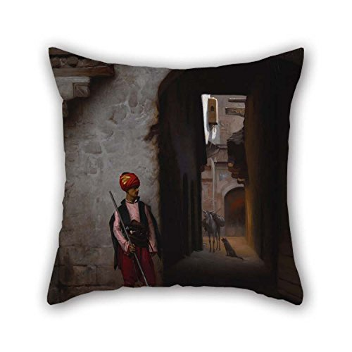 Oil Painting G??r?me, Jean-L??on - The Guard Throw Pillow Co