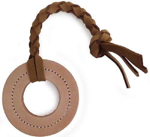 (Leather Tug Dog Toy - Ring)