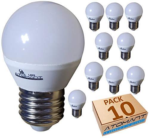 (LA) 10x Bombilla LED G45 7w, blanco Neutro (4500k), 650 LUMENES REALES! rosca gruesa E27, equivalente 75w tradicional.: Amazon.es: Iluminación