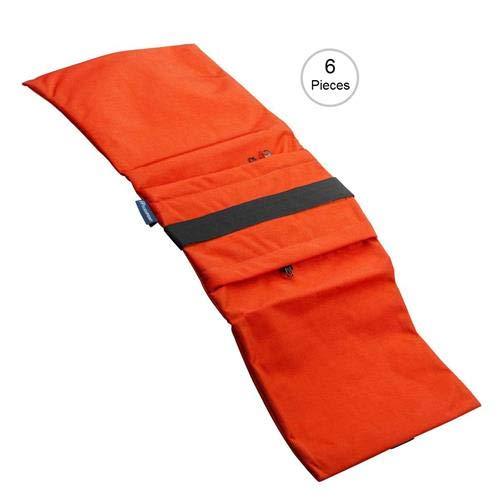 Flashpoint Empty Saddle Sandbag, Water-Resistant Cordura Nylon - (27 lb Capacity, Orange) (6 Pack)