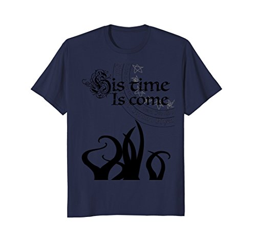 Mens Cthulhu Rising His Time is Come Lovecraftian T Shirt Large Navy - Old Navy Classic Rise