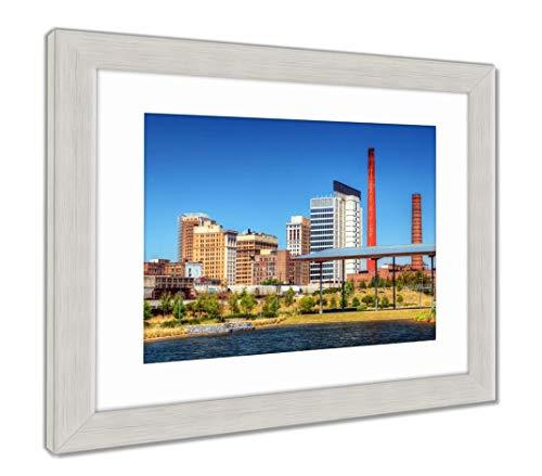 (Ashley Framed Prints Downtown Birmingham, Alabama, Wall Art Home Decoration, Color, 34x40 (Frame Size), Silver Frame, AG32675399)