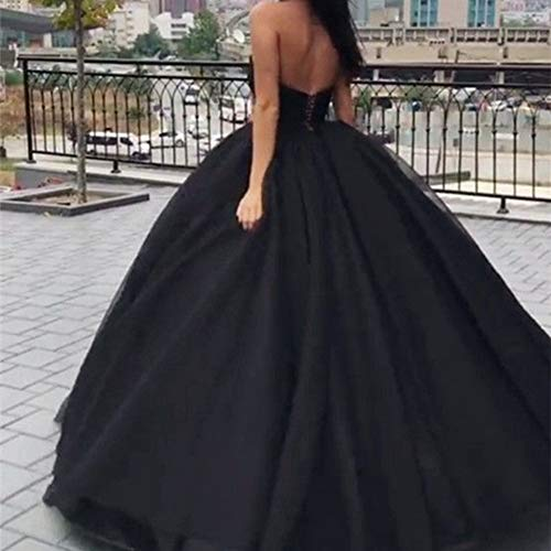 up Bess V Neck Bridal Evening Wedding Tulle Black s Lace Women Dress Prom Gown Ball 48wqr4x