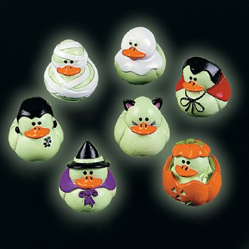 Mini Glow-in-the-Dark Halloween Rubber Duckies - Party and (Halloween Decorations Oriental Trading)