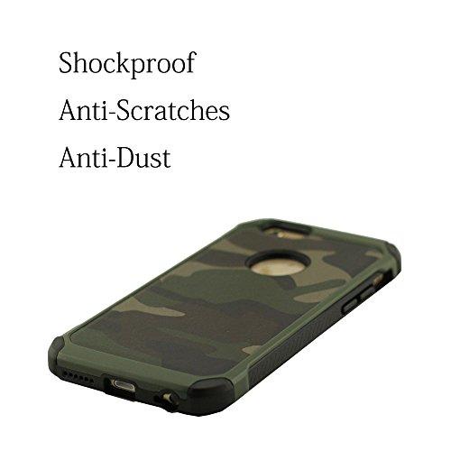 Tarnfarbe iPhone 6S Hülle, Schutzhülle Abdeckung für iPhone 6 & 6S (4.7 Zoll), iPhone 6 Case Cover Prämie Hardplastic Anti-Collision Anti-Kratzer Anti-Staub