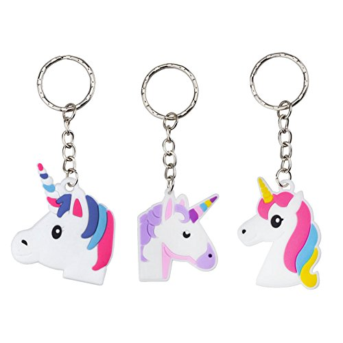 Price comparison product image Rantanto 12 Pieces Unicorn Keychains Party Favors