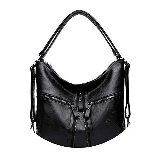Leather Women Bag Female Shoulder Bags 2018 Designer Handbags Brands Big Tote Bag,BLACK