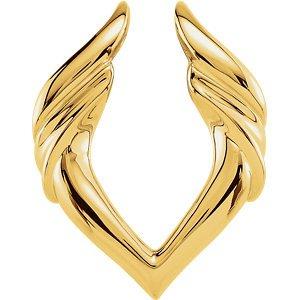 Pendant Enhancers in 14k White Gold by Banvari (Image #1)