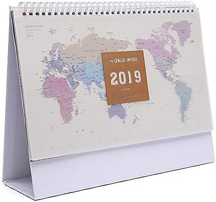 Mini 2019 Planificador de escritorio con calendario de mesa ...