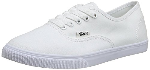 Vans Classic Authentic Lo Pro Womens Trainers Sneakers (8 B(M) US Women / 6.5 D(M) US Men, True White / True White)