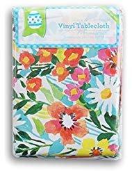 Floral Watercolor Rectangular Vinyl Tablecloth (52 x 70 ()
