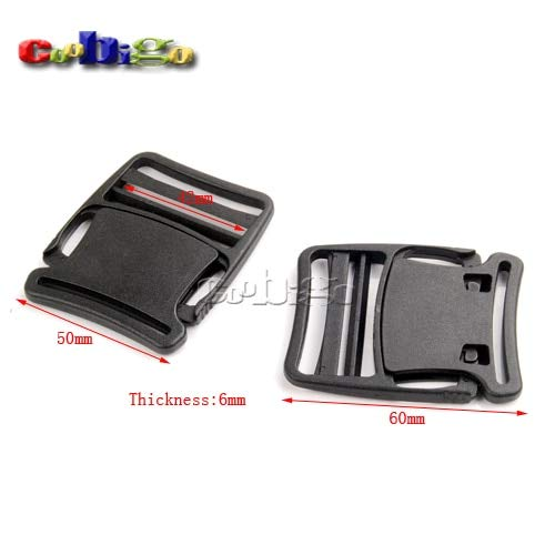 Buckes - 100pcs Pack 42mm Webbing Detach Buckle for Outdoor Sports Bags Students Bags Luggage #FLC370-41