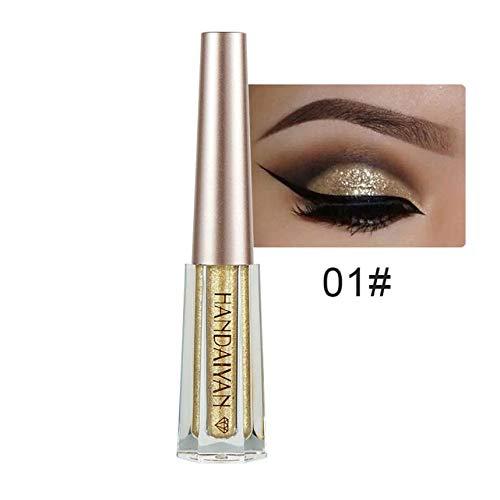 - 1PC Metallic Shiny Smoky Eyes Eyeshadow Waterproof Glitter Liquid Eyeliner Women's Makeup Eyeshadow 10 01