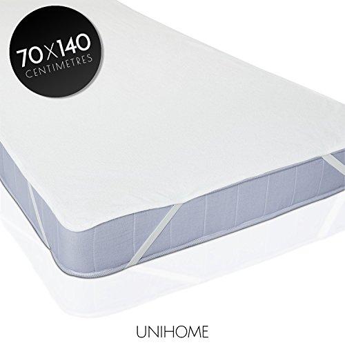 Unihome Wasserdicht matratzenschoner - wasserundurchlässige Matratzenauflage Kopfkissenschoner in verschiedenen Größen (70 cm x 140 cm) - Original