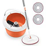Homitt Spin Bucket Mop, Splash-proof and Durable Bucket Floor Cleaning Kit, 360° Rotation