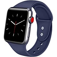 ATUP Strap Compatible for Apple Watch Strap 38mm 42mm 40mm 44mm, Soft Silicone Replacement Straps for iWatch Apple Watch Series 4, Series 3, Series 2, Series 1