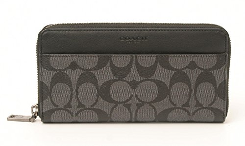 coach-accordion-signature-zip-round-wallet-charcoal-black