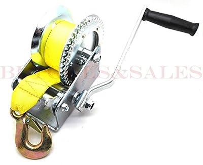 2000lb Hand Winch Hand Crank Strap Heavy Duty Winch ATV Jet Ski Trailer Boat NEW
