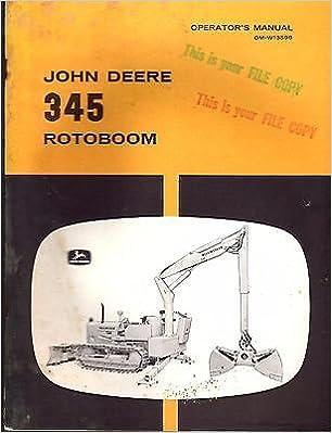 John Deere 345 Rotoboom Operators Parts Manual Omw13598 135. John Deere 345 Rotoboom Operators Parts Manual Omw13598 135 Amazon Books. John Deere. John Deere 135 Parts Diagram At Scoala.co