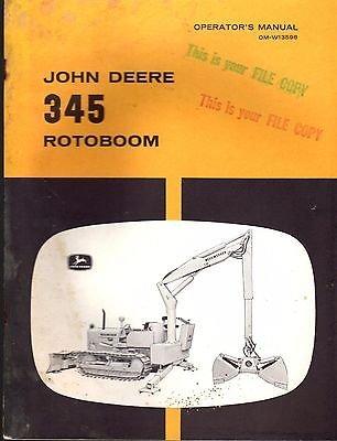 - JOHN DEERE 345 ROTOBOOM OPERATORS & PARTS MANUAL OM-W13598 (135)