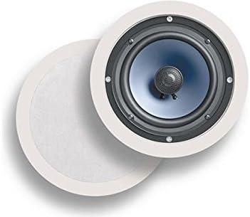 Pair, White Polk Audio RC60i 2-Way In-Ceiling Speakers