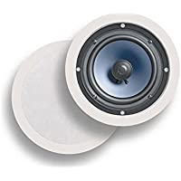 Polk Audio RC80i 2-Way in-Ceiling Speakers (Pair, White) Set of 2 RC60i, 6.5 Inch White