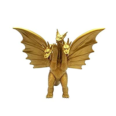"Durable Nice New Godzilla King of The Monster Ghidorah Gidora 3 Head Gold Dragon 7"" Action Figure Pirtable Kids Children: Home & Kitchen"