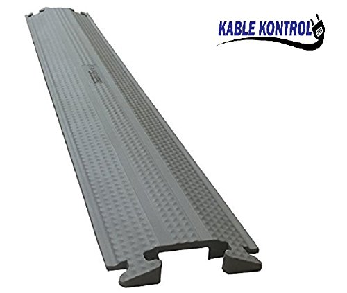 Medium-Duty Rubber Drop Over Cord Covers - (One Channel 60'' Long, Gray) by Kable Kontrol