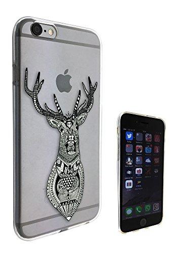 c0188 - Aztec Deer Head Design Pour iphone 5C Protecteur Coque Gel Rubber Silicone protection Case Coque