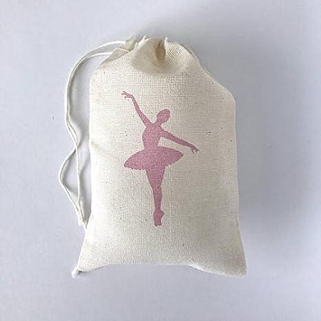 Amazon.com: Bailarina Bolsa de muselina Favor, de color rosa ...