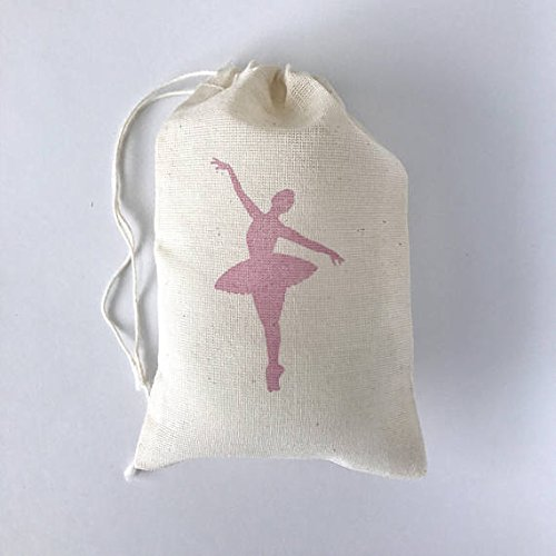 10 Ballerina Favor Bags Ballet Birthday Party Bags Nutcracker Christmas Goodie Gift Bag Baby Shower Candy Dance Bachelorette Soap Jewelry