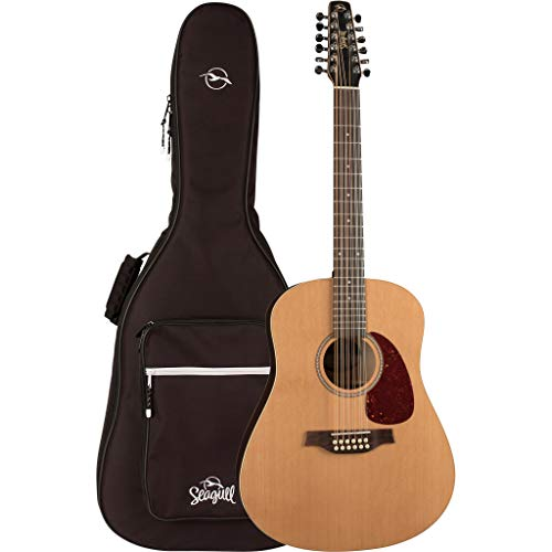 Seagull Coastline Cedar 12 12-String Acoustic Guitar with Seagull Dreadnought Gig Bag