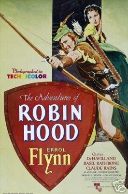 Robin Hood Movie Poster Errol Flynn Rare Hot Vintage 1