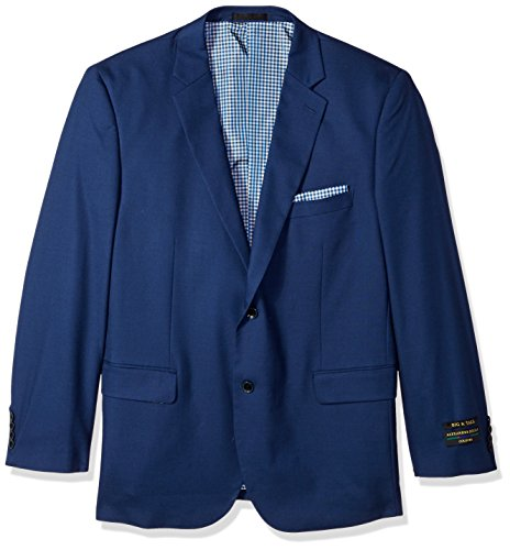 ours Men's Big and Tall Single Breasted Modern Fit Suit Separate Jacket, French Blue, 46 Short (Short Suit Separates)
