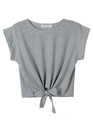 PERSUN Women's T-Shirt Loose Short Sleeve Crop Tops
