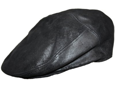 Mens Ladies Real Leather Flat Cap hat Black Medium 56cm  Amazon.co.uk   Clothing b2ad1a96443