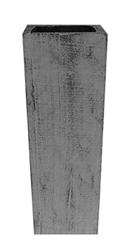 Extra Large Floor Wood Vase - 30'' Grey Distressed - Decorative Vintage Wooden Rustic Vase
