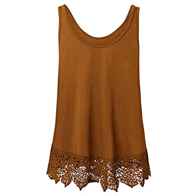 Plus Size Swing Lace Flowy Tank Top for Women at Women's Clothing store