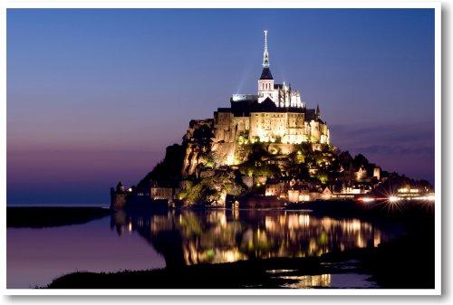 Mont Saint-michel, Normandy France - NEW World Travel Poster