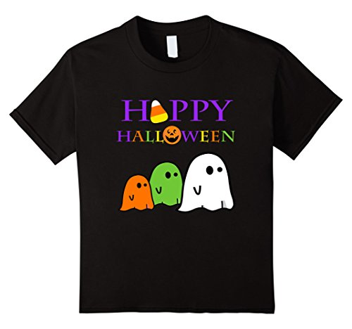 Kids Ghost Halloween Shirt Happy Halloween School Teacher Party 8 Black