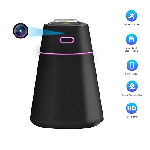 Hidden Camera Humidifier with Full HD 1080P Mini Wi-Fi Spy Camera App Real Time Video Motion Detection for Indoor and Car