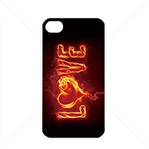Valentine's Day Gift Sweet Heart Love Apple iPhone 4 / 4s TPU Soft Black or White case (White)